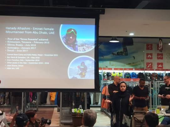 Hanady Alhashmi presenting at adventure hq