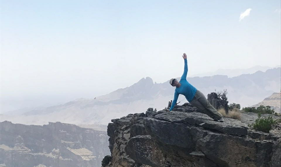 hanady alhashmi on jabah shams mountain in oman